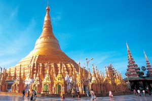 Yangon Temple Myanmar on a Boundless Journeys Tour
