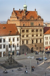 The heart of Pilzen in the Czech Republic is Republic Square