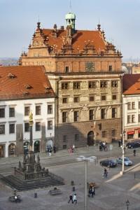 The heart of Pilzen in the Czech Republic is Republic Square