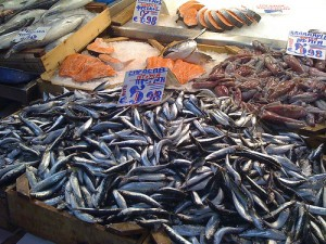 Fresh sardines in Rome's Trionfale Market
