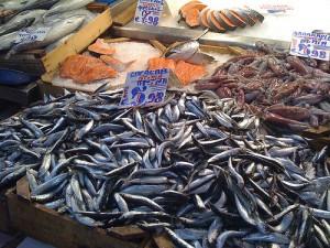 Fresh sardines in Rome's Trionfale Market