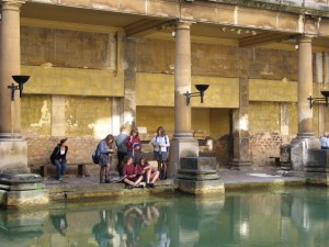 On a learning vacation at the Roman baths  in Bath, England Photo by Karen Misuraca