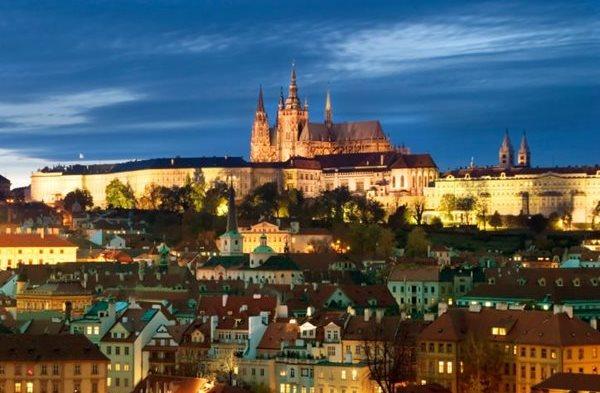Prague Castle city view