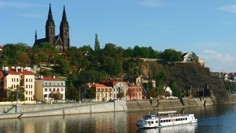 Views of the architecture and the city skyline of Prague on a Vltava River cruise.