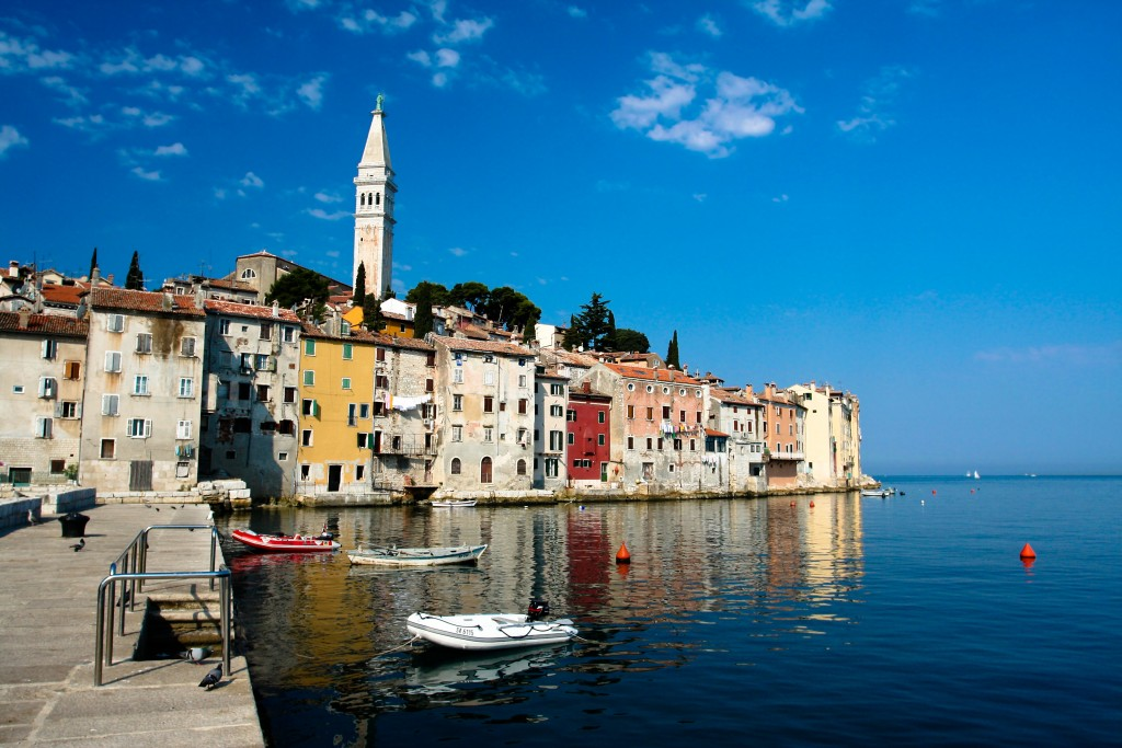 Resort city of Rovinj in Croatia