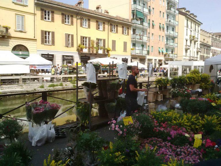 Flower Vendor at the Milano Antiques Market