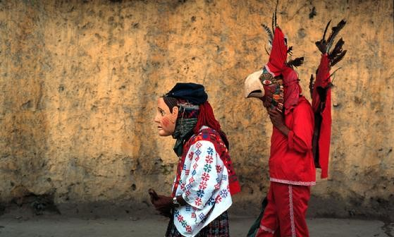 Mayan Costumes Near Antigua