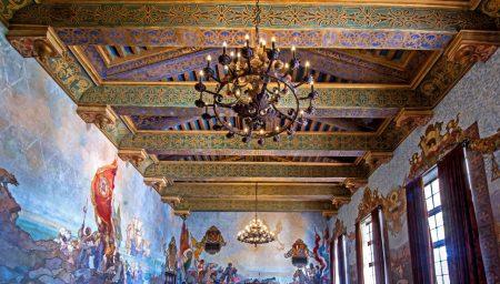 Mural Room of Santa Barbara County Courthouse