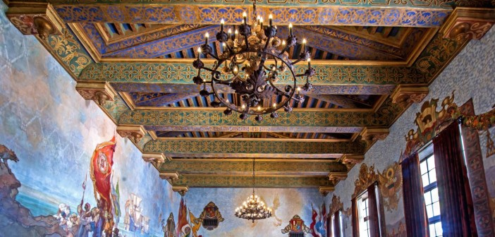 Mural Room of Santa Barbara County Courthouse