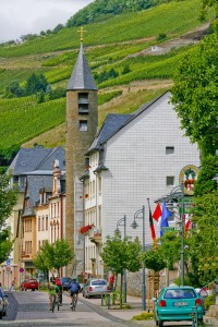 Biking through Mosel Valley villages