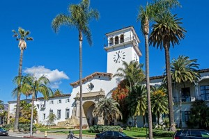 Spanish Colonial-style Santa Barbara Courthouse