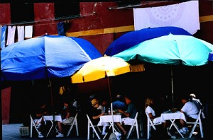 Umbrellas in Monterosso