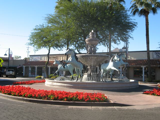 Bronze Horse Fountain in Scottsdale