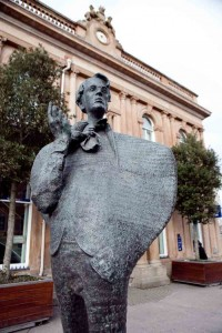 In Sligo, statue of WB Yeats