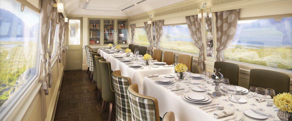 Dining car on the Grand Hibernian