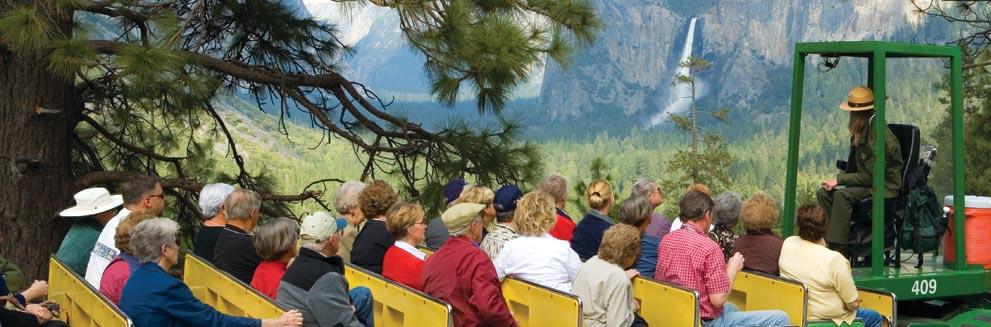 Coach tour of Yosemite Valley