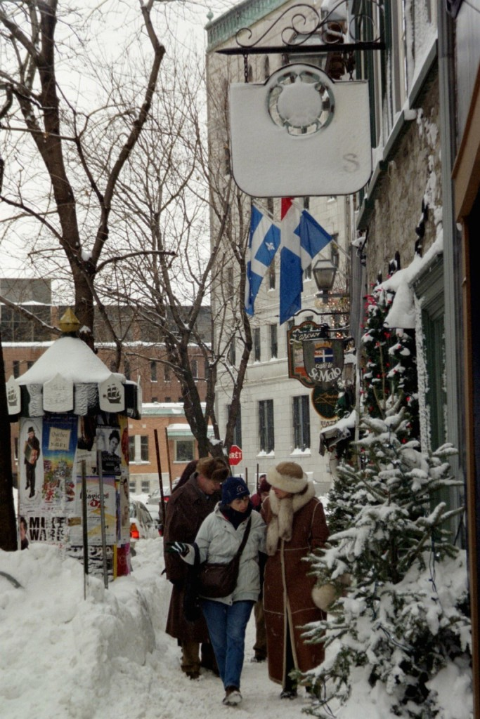Shopping the Snowy Streets of Old Quebec City