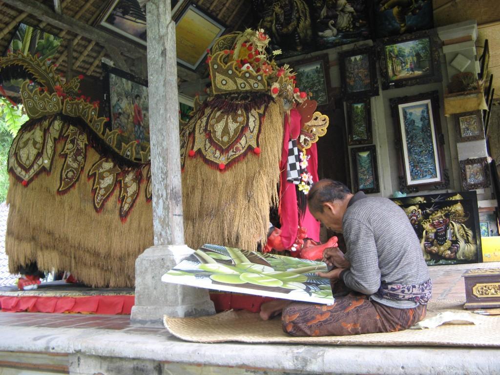Artist at Taman Ayun in Bali