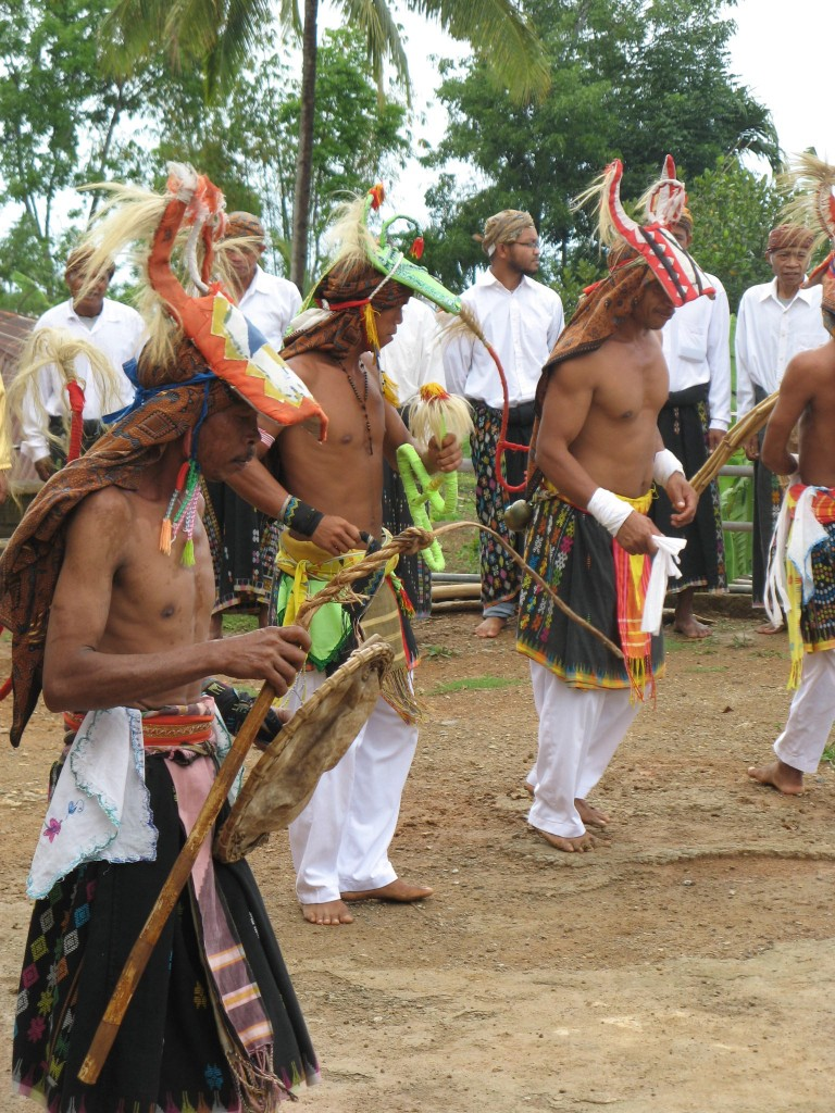 Dancers in Melo, a Manggaraian village