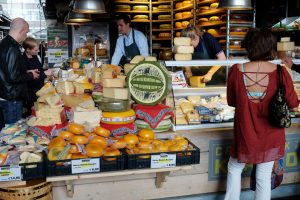 Cheese market in Rotterdam