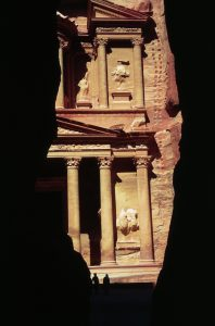 Al-Khazneh, the Treasury, in Petra, Jordan