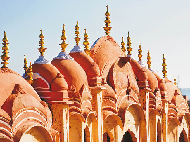 UNESCO World Heritage sites at Jaipur, on a Voyage to Antiquity cruise.