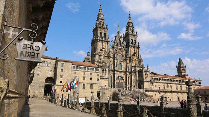 Cathedral of Santiago de Compostela is the final destination on tours of the Camino de Santiago by Overseas Adventure Travel (OAT)
