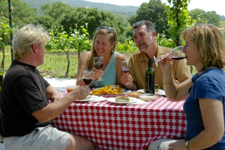 Walking, wine tasting, and wonderful views of the California Wine Country.