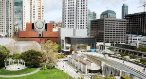 Yerba Buena Gardens offers art al fresco, an historic waterfall and lawns for lounging.