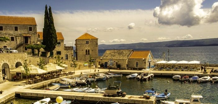 harbor of Brač Island, on the Dalmatian coast of Croatia