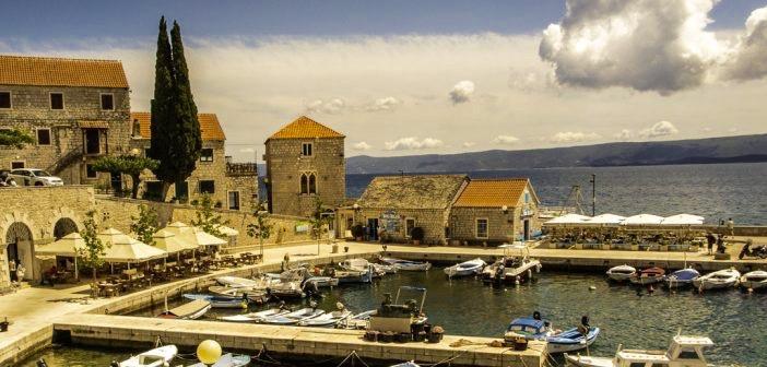 harbor of Brač Island, on the Dalmatian coast of Croatia