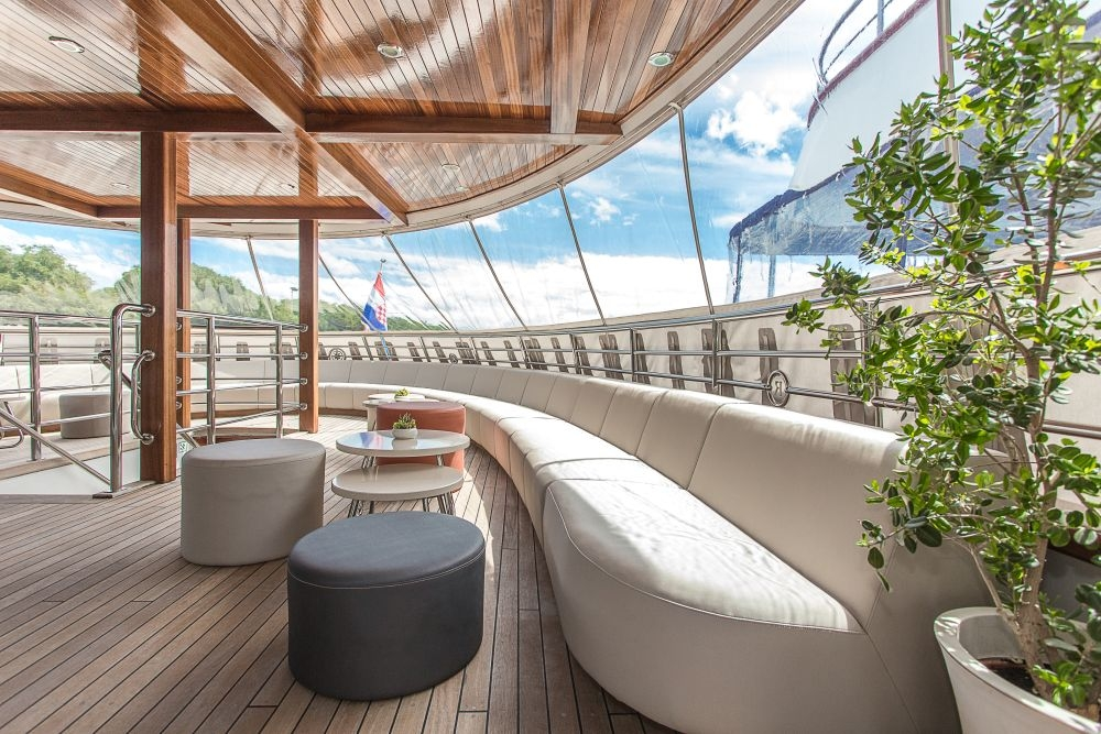 Deck of the cruise ship Futura