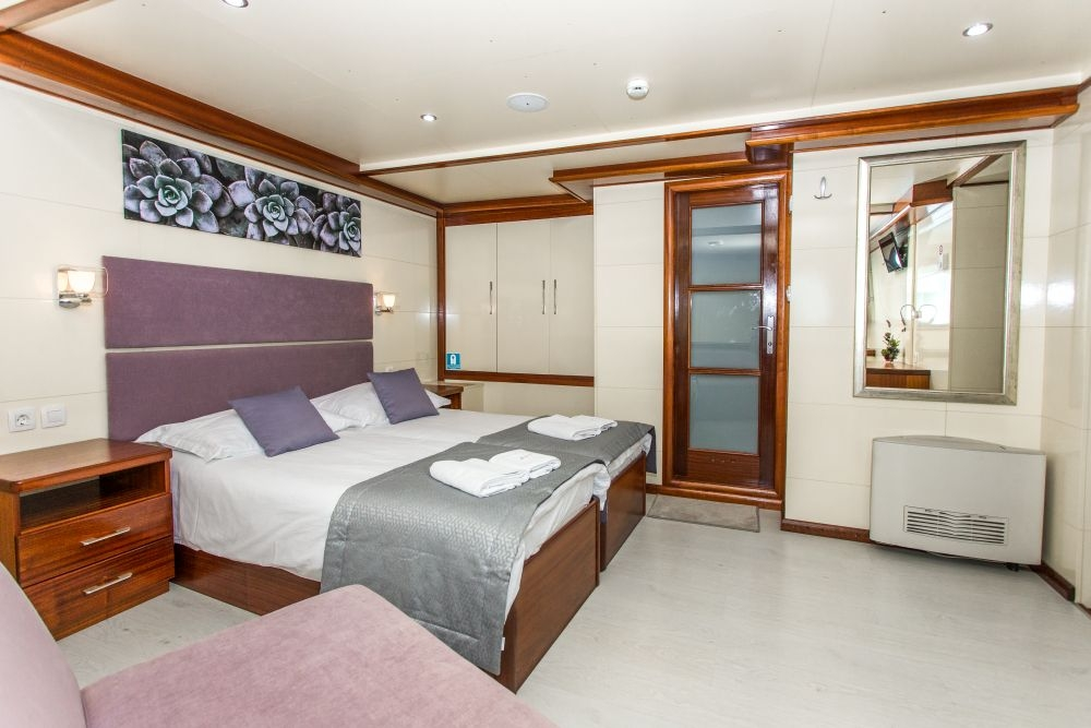 Stateroom on the Futura of the Katarina Line in Croatia