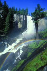 Mist Trail at Vernal Falls in Yosemite National Park