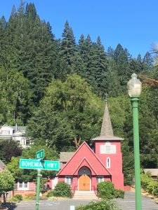 Lost in time, surrounded by redwoods, the California Wine Country village of Occidental.