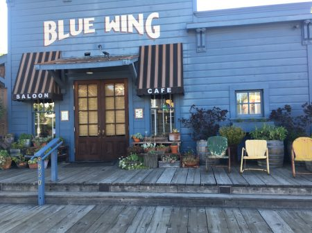 In the tiny California Wine Country Village of Upper Lake, locals and adventurous visitors hang out at the Blue Wing Saloon and Cafe.